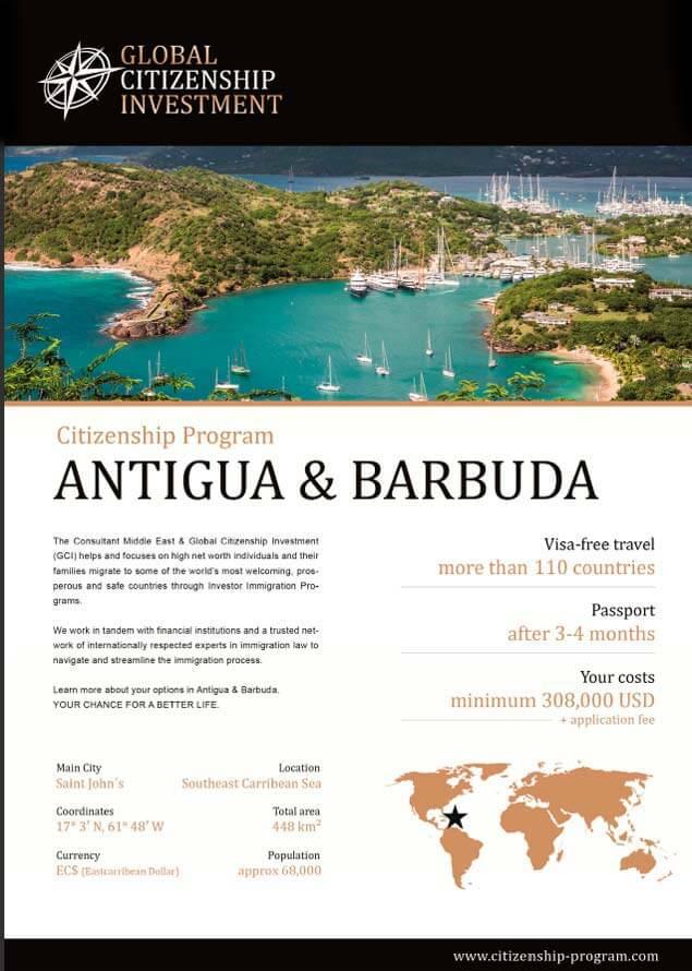 Antigua & Barduda Citizenship Program Brochure