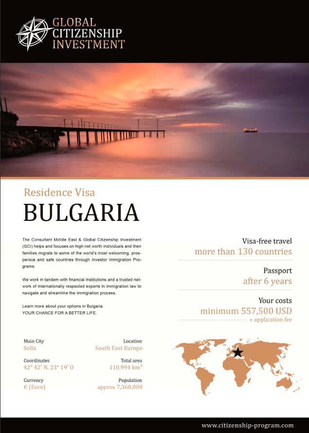 Bulgaria Residence Program Brochure