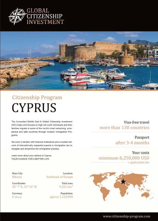 Cyprus Citizenship Program Brochure