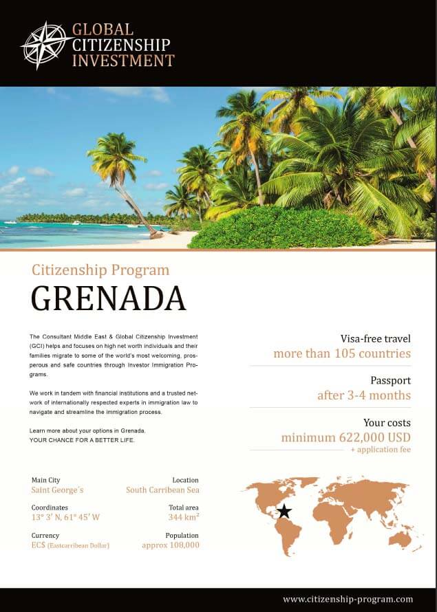 Grenada Citizenship Program Brochure
