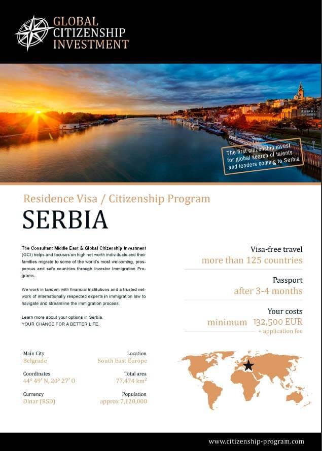 Serbia Citizenship Program Brochure