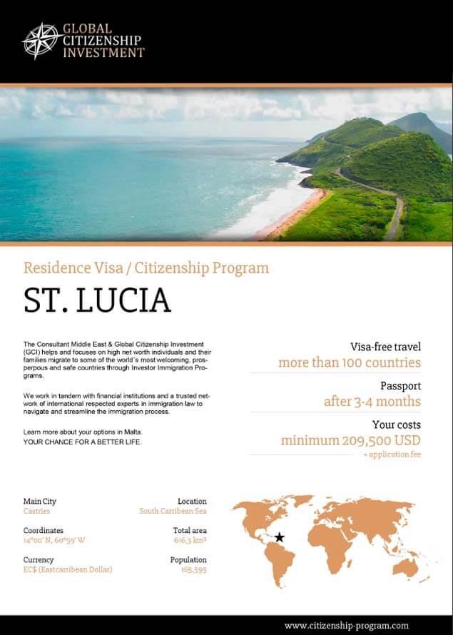 St. Lucia Citizenship Program Brochure